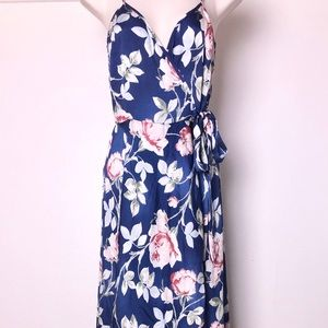 Silky Floral Dress XS